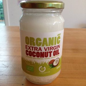 Coconut-Oil-from-Aldi for puppies